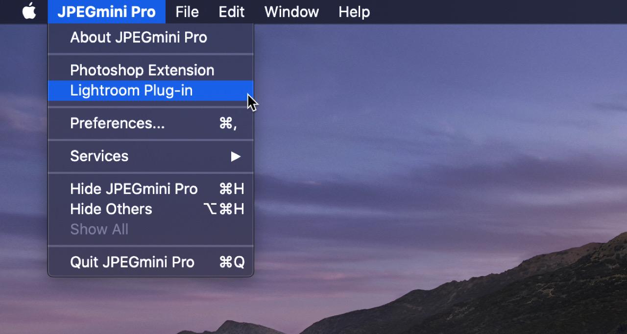 JPEGmini Pro Lightroom プラグインの使い方