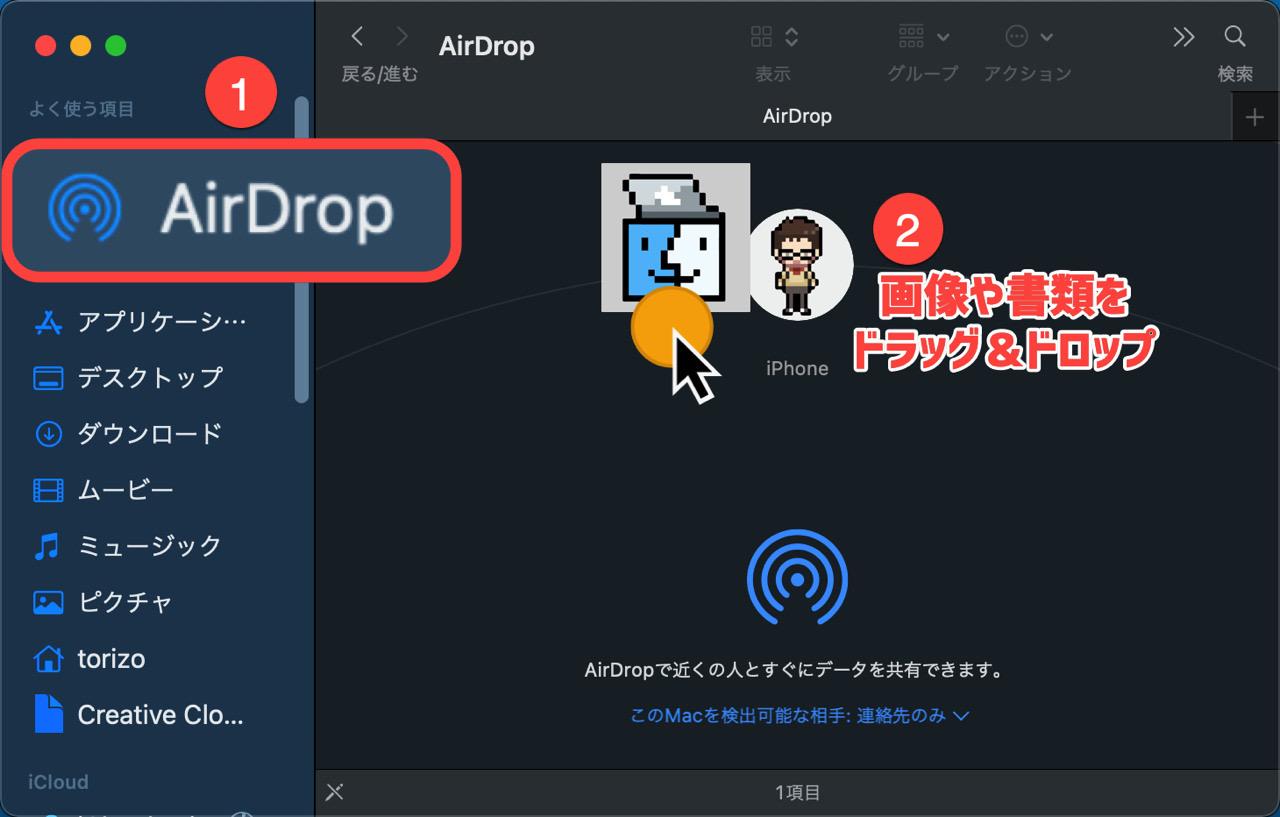 Macでデータ送信