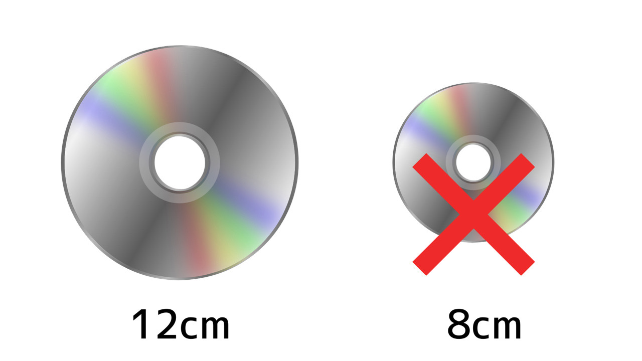 Apple USB SuperDrive は12センチディスクのみ対応